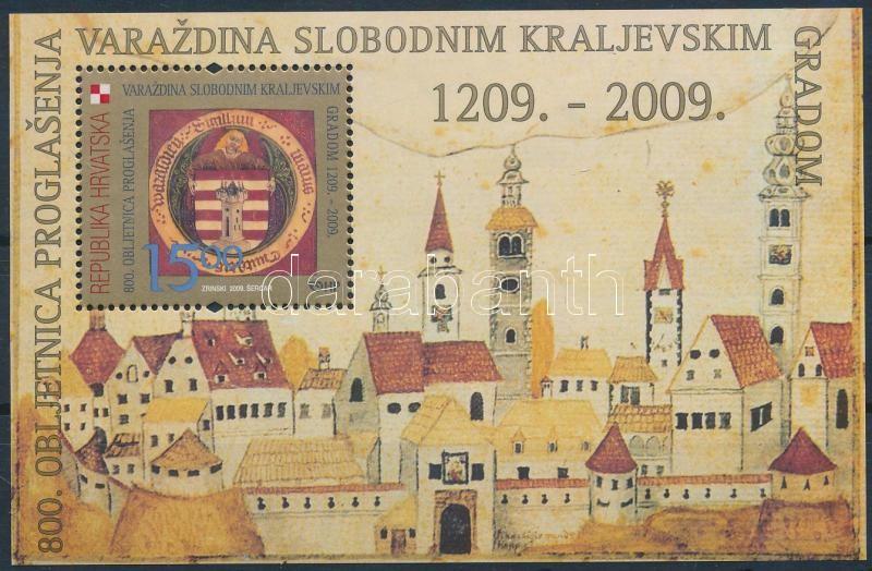 800th anniversary of Varazdin city release block, Varasd város felszabadulásának 800. évfordulója blokk