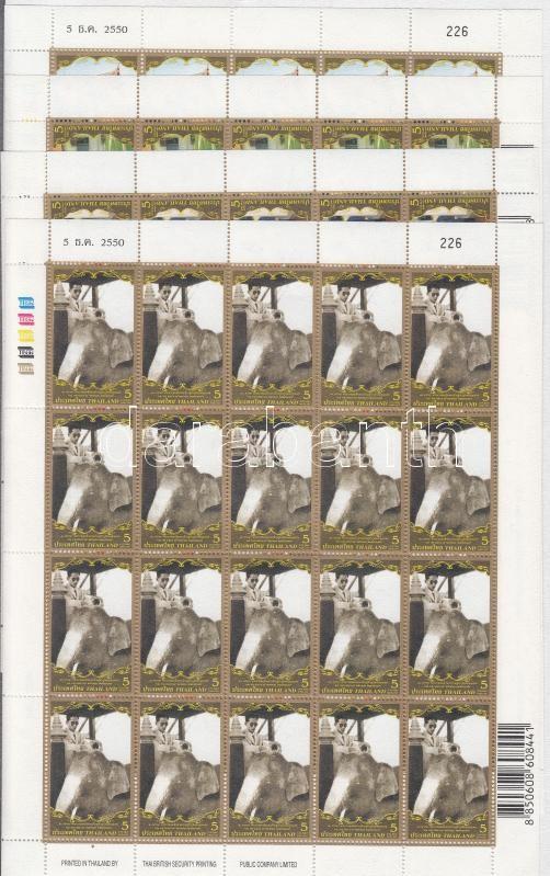 King Bhumibol (III) mini sheet set, Bhumibol király (III) kisívsor