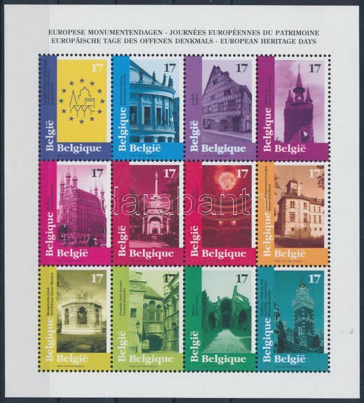 European monuments minisheet, Európai műemlékek kisív