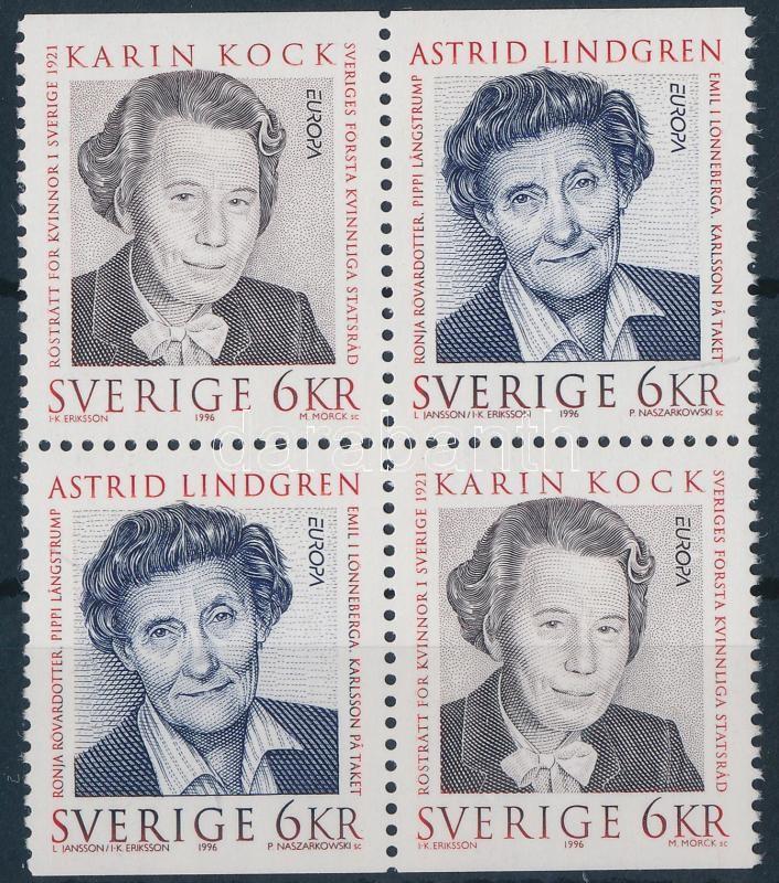Europa CEPT, famous women block of 4, Europa CEPT, híres nők négyestömb