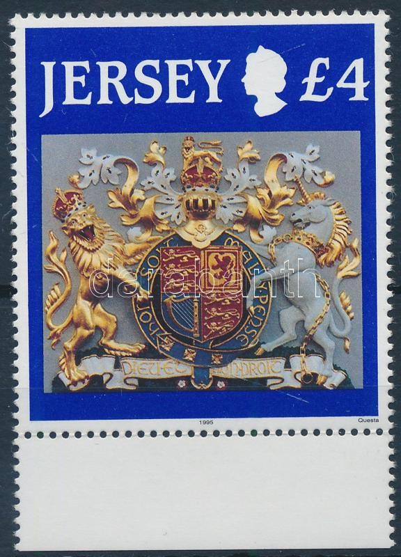 Royal Coat of Arms margin stamp, Királyi címer ívszéli bélyeg