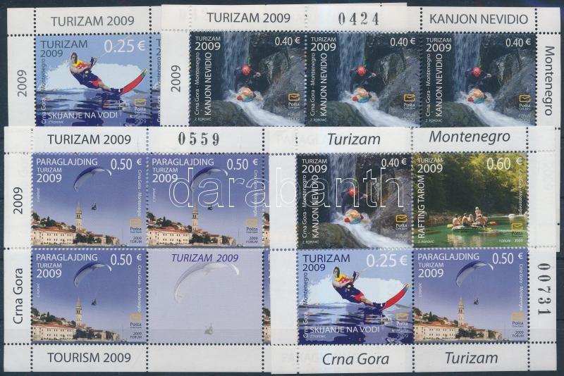 Turizmus 3 klf kisív + bélyegfüzetlap, Tourism diff 3 minisheet + stampbooklet sheet