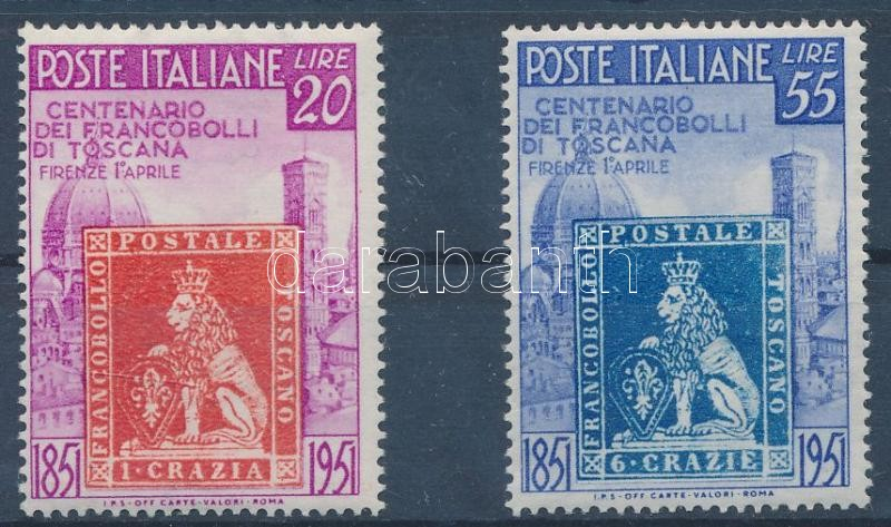 Tuscan stamps centenary set, 100 éves a toszkán bélyeg sor