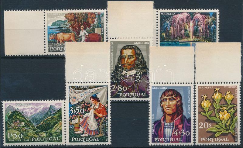 Portuguese-Brazilian Stamp Exhibition margin set, Portugál-brazil Bélyegkiállítás ívszéli sor
