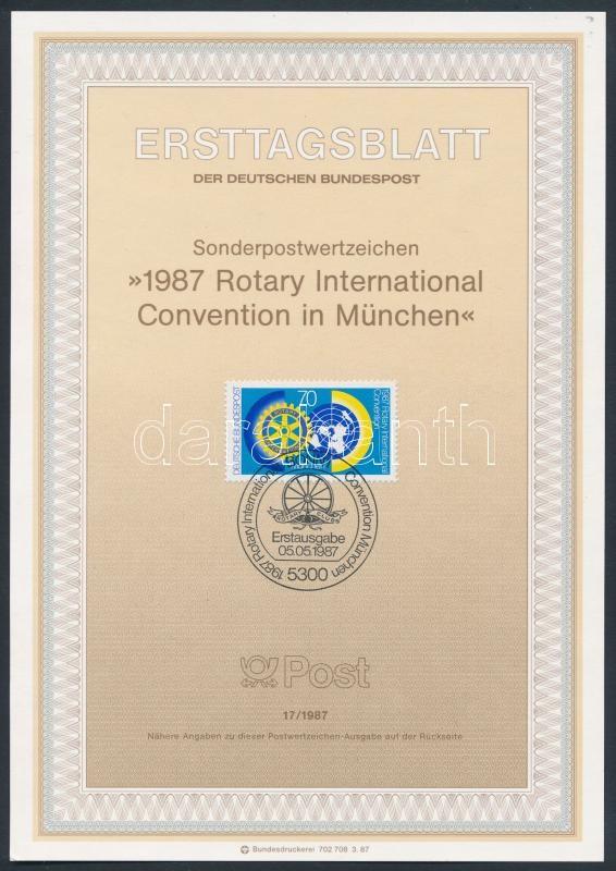 Rotary souvenir sheet, Rotary emléklap