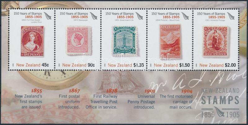 150th anniversary of New Zealand stamp block, 150 éves az új zélandi bélyeg blokk