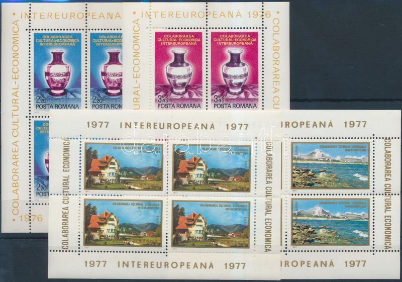 1976-1977 INTEREUROPA 2 diff block set, 1976-1977 Intereuropa 2 klf blokksor
