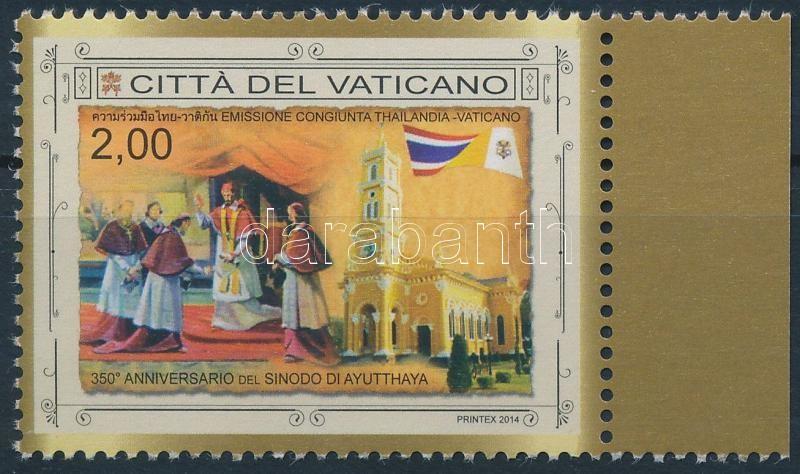 Synod of Ayutthaya margin stamp, Szinódus Ayutthaya 350. évfordulója ívszéli bélyeg