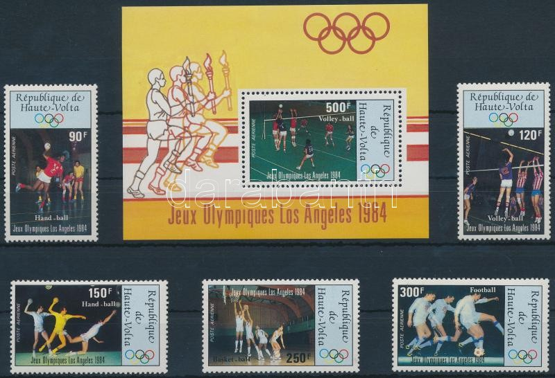 Summer Olympics Los Angeles (IV) set + block, Nyári Olimpia, Los Angeles (IV.) sor + blokk