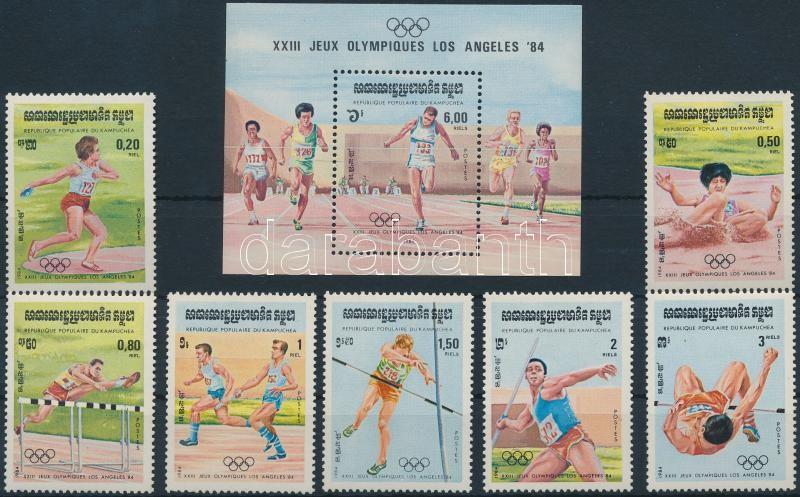 Los Angeles Summer Olympics (I) set + block, Nyári Olimpiai, Los Angeles (I.) sor + blokk