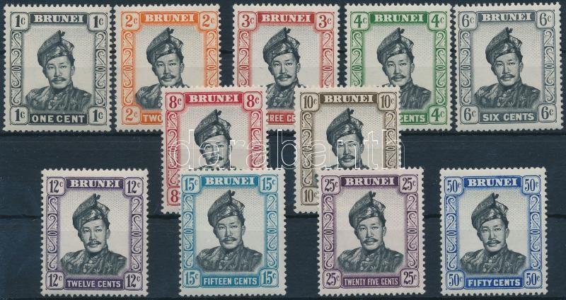 Definitive 11 stamps (missing closing value), Forgalmi 11 érték (hiányoznak a záró értékek)