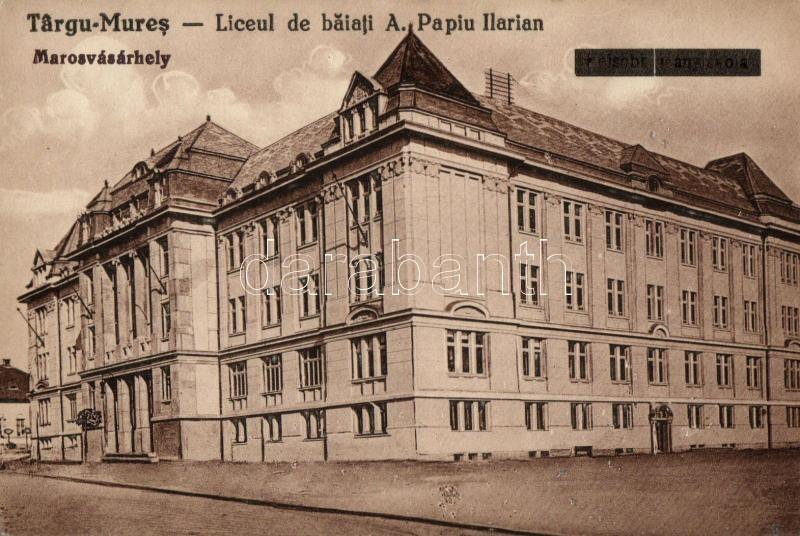 Targu Mures, girl school, Marosvásárhely, A. Papiu Ilarian leány iskola