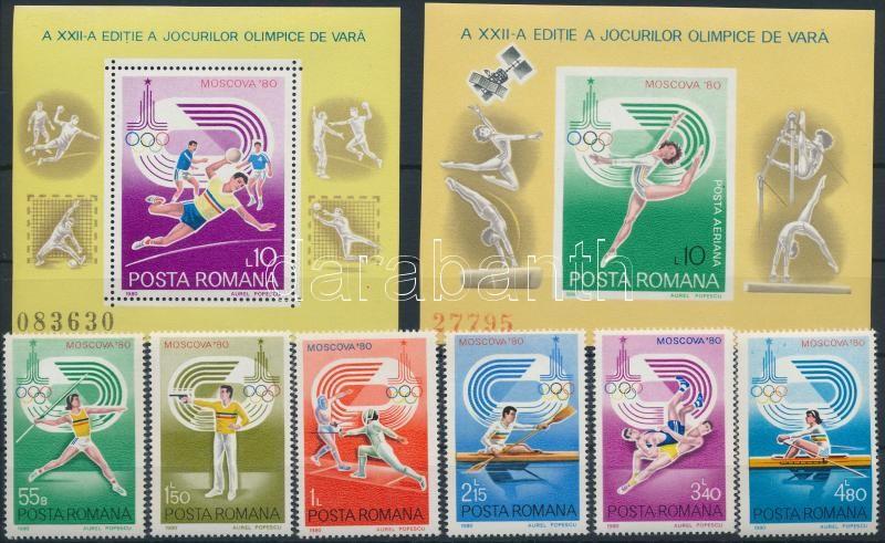 Summer Olympics (II) set + block pair, Nyári olimpia (II) sor + blokkpár