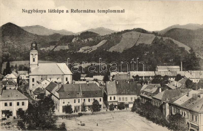 Baia Mare, Calvinist church, shop, Nagybánya, Református templom, Vajda Márton üzlete; kiadja Kovács Gyula