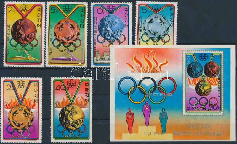Olympic medal winners set + imperf block, Olimpiai éremgyőztesek sor + vágott blokk