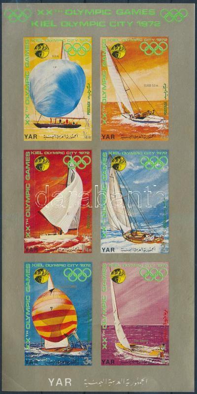 Olympics sailing ship (II) minisheet, Olimpia, vitorláshajók (II) kisív