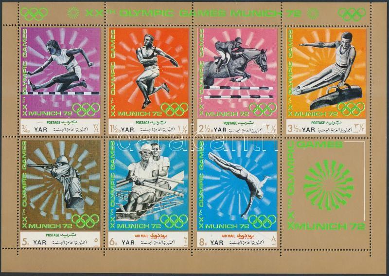 Summer Olympics (II) minisheet, Nyári olimpia (II) kisív