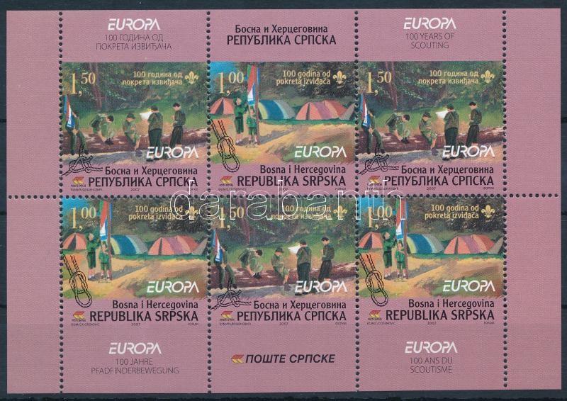 Europa CEPT: Scouting stampbooklet sheet, Europa CEPT: Cserkész bélyegfüzetlap