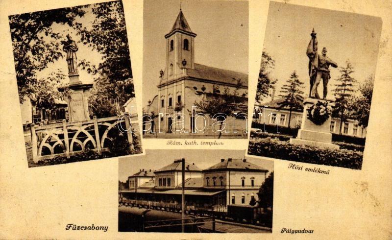 Füzesabony, vasútállomás, Hősi emlékmű