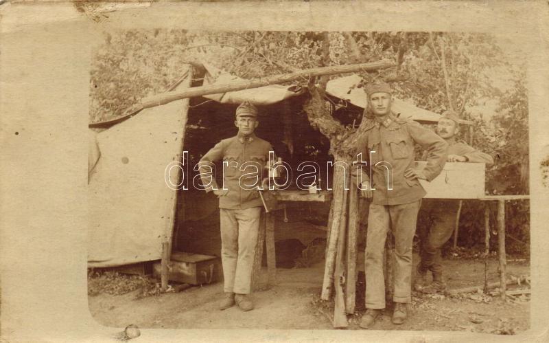 WWI Austro-Hungarian military camp, soldiers, photo, Első világháború osztrák-magyar katonai tábor, fotó