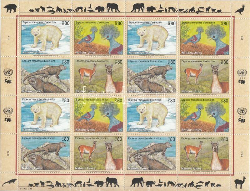 Animals minisheet (folded), Állatok kisív (középen hajtott)