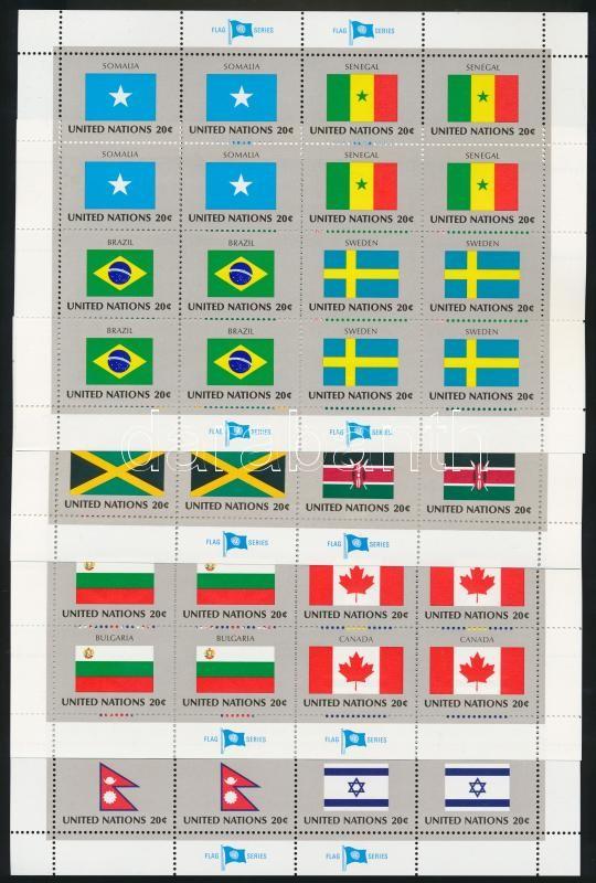 Flags (IV) minisheet set, Zászlók (IV.) kisív sor