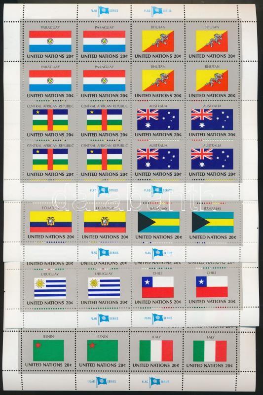 Flags (V) minisheet set, Zászlók (V.) kisív sor