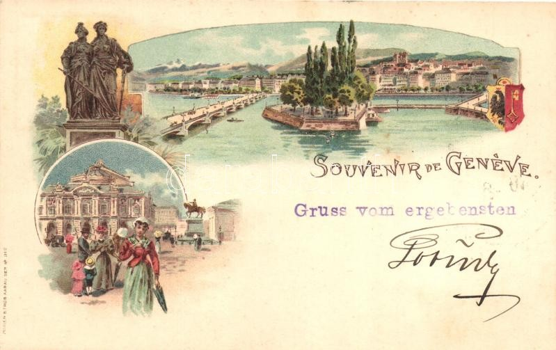 Geneva, Geneve; Muller & Traub No. 212. litho