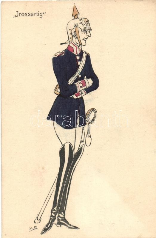 Irossartig / German military officer, ASCO (Arthur Schuerer & Co.) 7821. B.Sch. s: K. B., Német katonatiszt, ASCO (Arthur Schuerer & Co.) 7821. B.Sch. s: K. B.