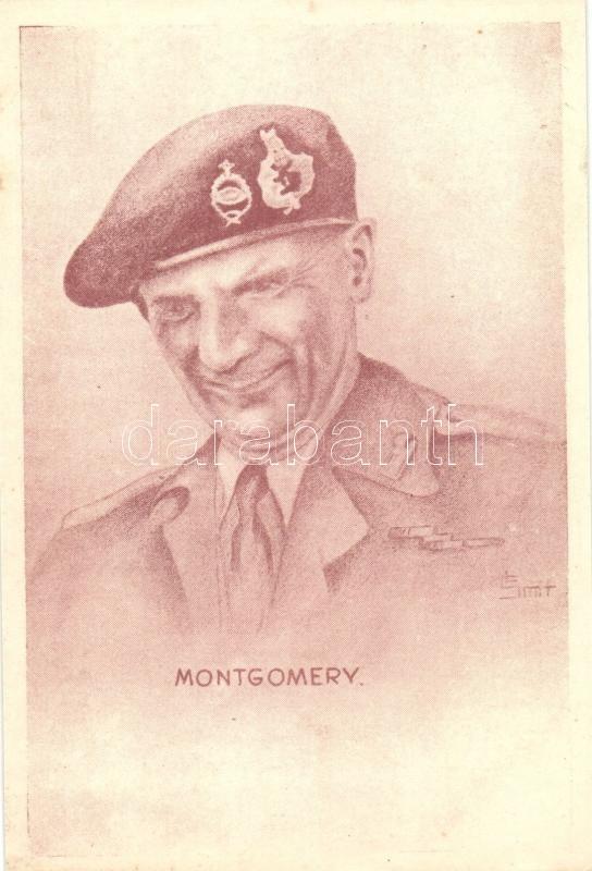 Bernard Montgomery, 1st Viscount Montgomery of Alamein s: Smit, Bernard Law Montgomery angol tábornagy, Első Alameini Őrgróf, s: Smit