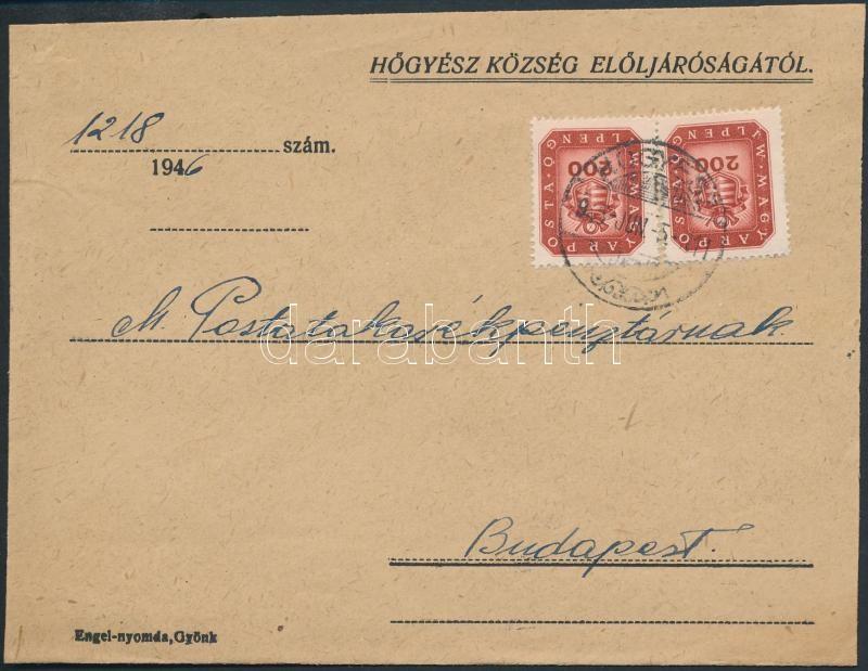 Inflation cover, (18.díjszabás) Távolsági levél Milpengős 2x200mP bérmentesítéssel (boríték szétnyitva)