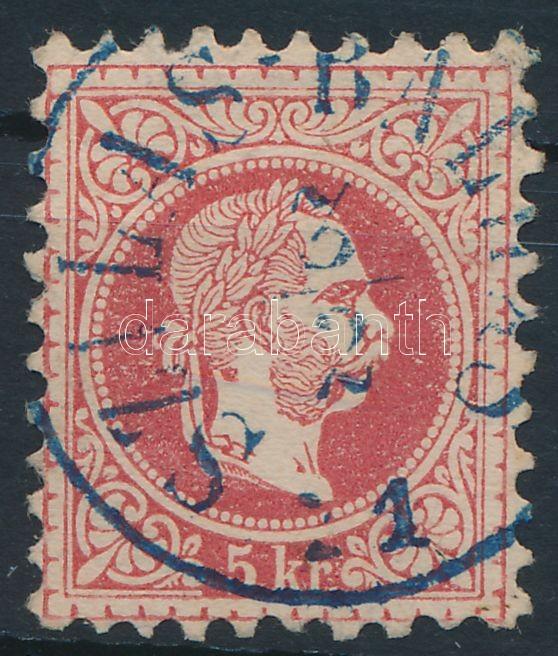 """Austria-Hungary classic postmark """"SZILAS-BAL(HÁS)"""" blue """"SZILAS-BAL(HÁS)"""" kék"""
