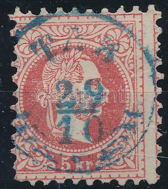 "Austria-Hungary classic postmark ""TAB"" blue ""T(AB)"" kék"