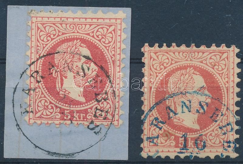 """""""KARÁNSEBES"""" + """"KARÁNSEBES"""" kék Austria-Hungary-Romania classic postmark """"KARÁNSEBES"""" + """"KARÁNSEBES"""" blue"""