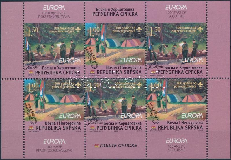 Cserkészet bélyegfüzetlap Scout stamp-booklet sheet