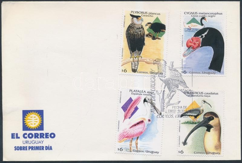Native birds set on FDC, Őshonos madarak sor