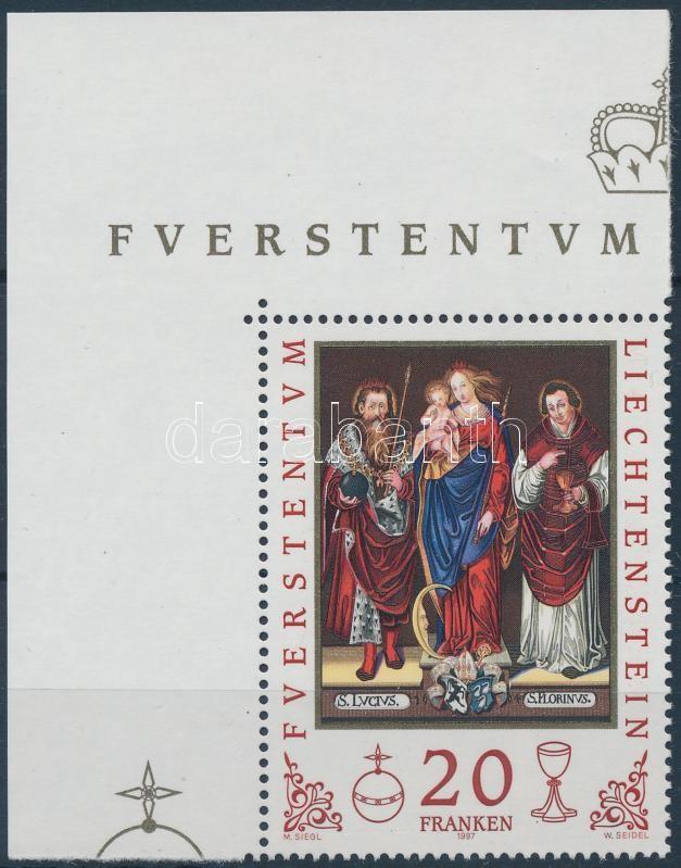 Védőszent ívsarki bélyeg, Patron saint corner stamp