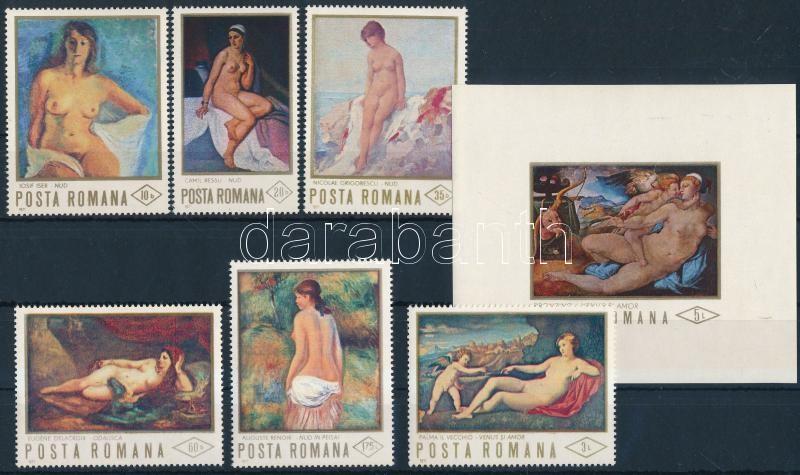 Nude paintings set + block, Aktfestmény sor + blokk
