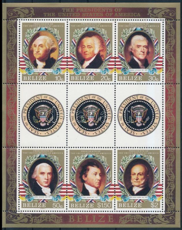 US President minisheet + block, USA elnökei kisív + blokk