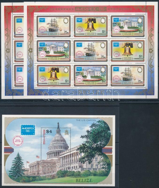 Stamp Exhibition minisheet + block, Bélyegkiállítás kisív + blokk