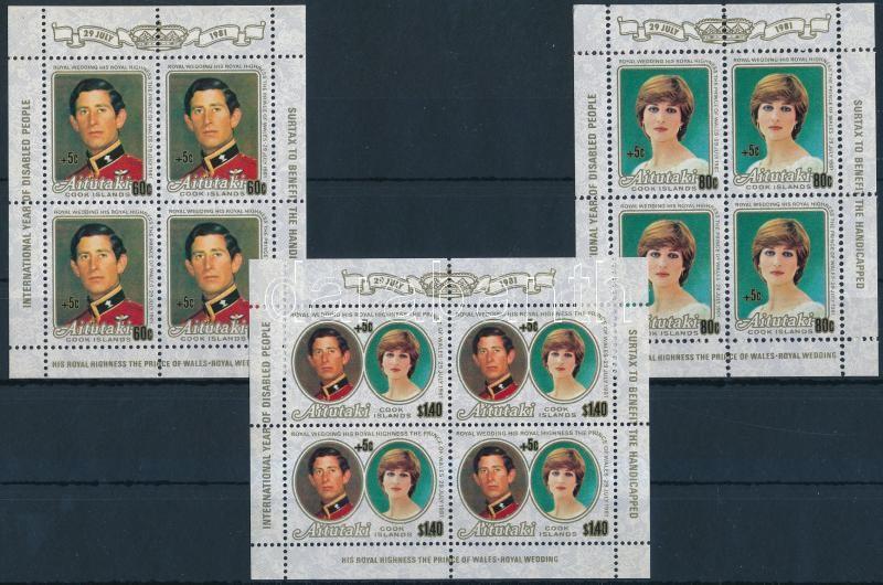 Prince Charles and Lady Diana's wedding surcharge minisheet set, Károly herceg és Lady Diana esküvője feláras kisív sor