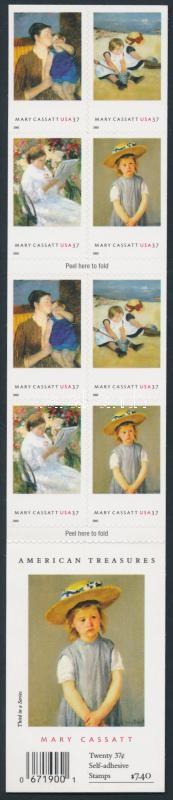 Paintings self-adhesive stamp booklet, Festmények öntapadós bélyegfüzet