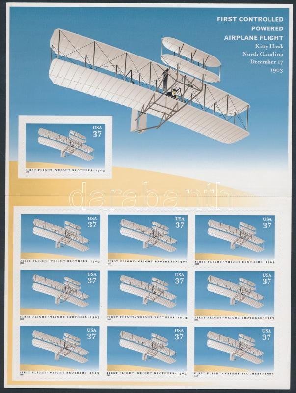 Plane self-adhesive minisheet, Repülő öntapadós kisív