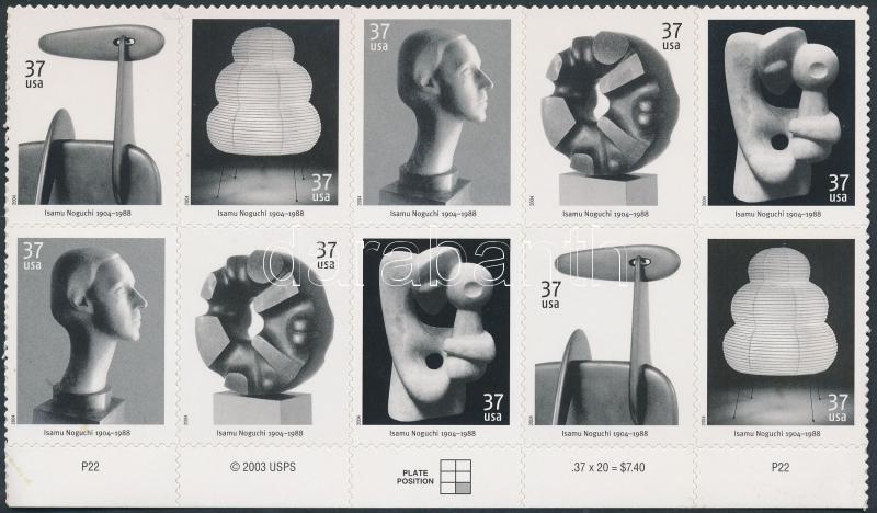 Art self-adhesive block of 10, Művészet öntapadós 10-es tömb