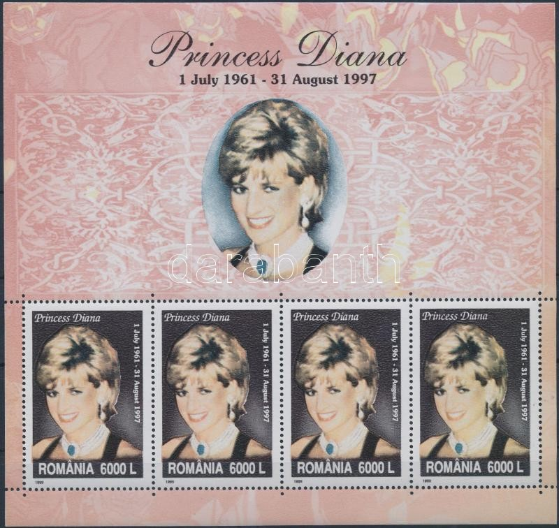 Lady Diana kisív, Lady Diana minisheet