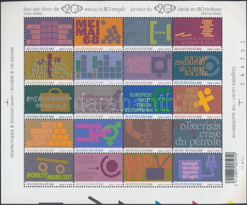 XX. Century mini sheet, XX. század kisív