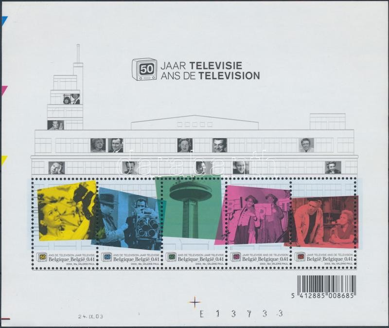 50 éves a Belga TV adás blokk 50th anniversary of Belgian TV broadcasts block