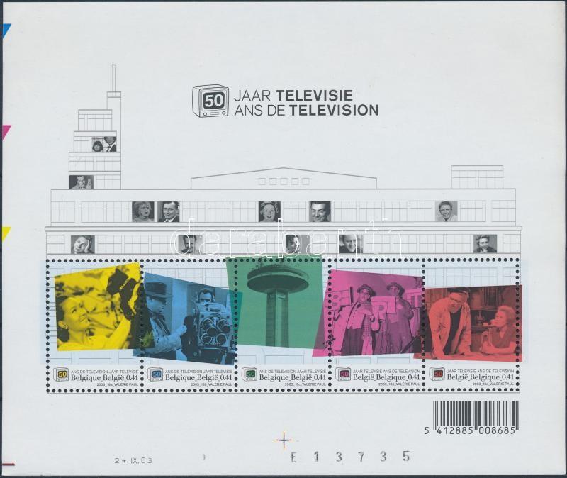 2003 50 ves a belga tv ad s blokk mi 91 darabanth - Tv discount belgique ...