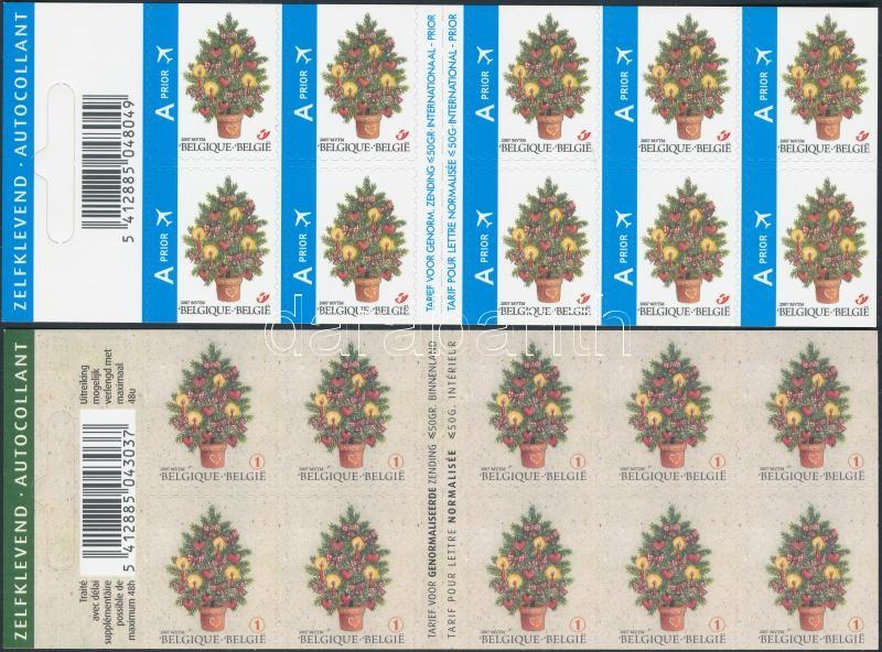 Christmas and New Year two self-adhesive stamp-booklet Karácsony és Újév 2 klf öntapadós bélyegfüzet