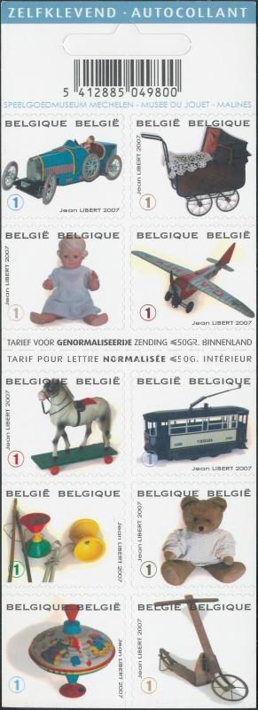 Toys self-adhesive stamp booklet Játékok öntapadós bélyegfüzet